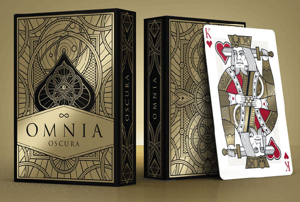 【USPCC 撲克】Omnia Oscura 黑金 playing cards