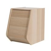 日本 IRIS 木質可掀門堆疊櫃 W30xH40cm 淺木色