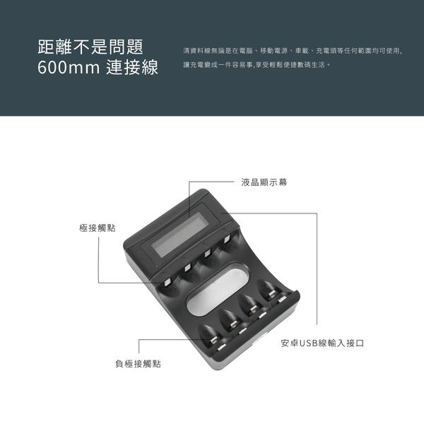USB充電款 液晶顯示電池充電器 液晶顯示 充電電池 電池盒 快速充電 eneloop 電量顯示 3號 AA 4號 AAA