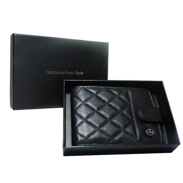 Mercedes-Benz 前口袋皮夾 - 菱格紋 - MBS11260101