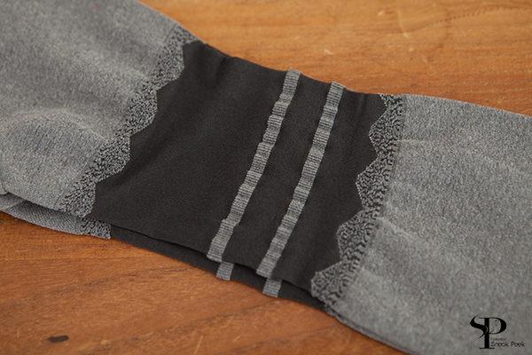 拼接假高筒性感顯瘦絲襪 (條紋款 深灰色)