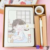 [Bbay] 筆記本 手帳 禮盒套裝 手賬本 活頁本 筆記本 日記本