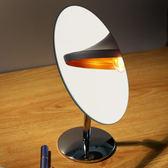 高清可旋轉鏡子 化妝鏡便攜小號台式桌面公主鏡學生簡約大梳妝鏡HRYC