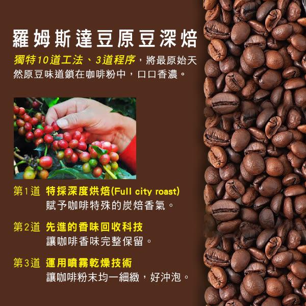 熱量僅67大卡  AVON雅芳康采 炭焙纖盈咖啡15gx20入