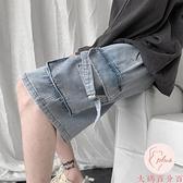 牛仔短褲男大碼夏季寬松五分褲外穿休閑中褲【大碼百分百】