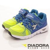【DIADORA】義大利國寶童鞋-4E高透氣輕量跑鞋-DA7AKR5686-藍-中童段-(現+預)