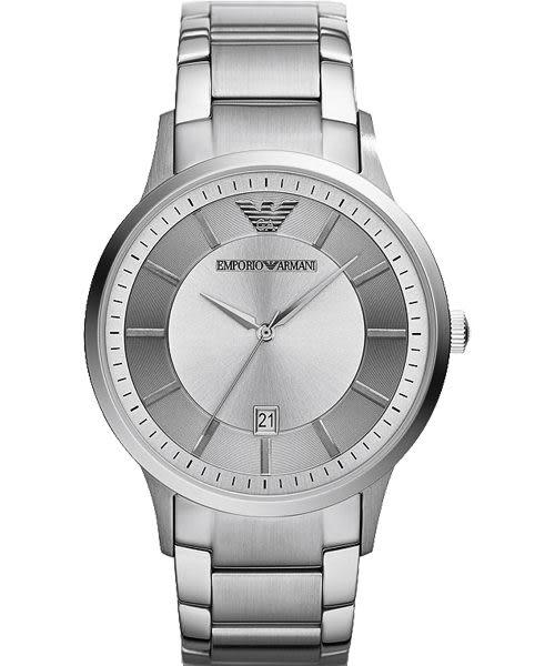 Emporio Armani 亞曼尼 Classic 都會紳士簡約手錶-銀/43mm AR2478