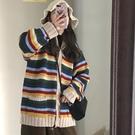 復古日系甜美潮流秋冬保暖打底衫 開衫女生針織衫 女生韓版毛衣長袖 女士毛衣時尚加厚上衣