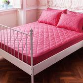 DOKOMO朵可•茉-MIT台灣精製《標準雙人5x6.2尺防潑水床包式保潔墊+枕頭套式保潔墊x2》- 戀愛桃
