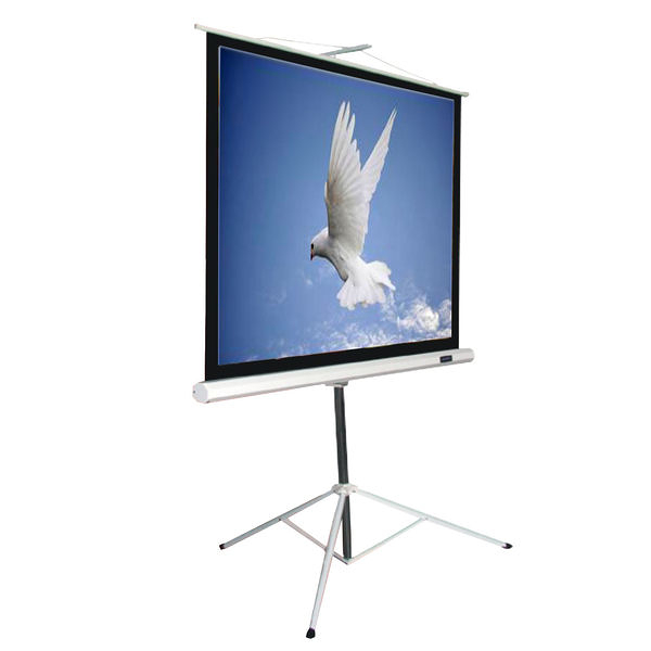 kamas卡瑪斯投影機銀幕 84吋三腳支架蓆白投影布幕158 ×158cm 可移動投影幕 一年原廠保固 含稅含運