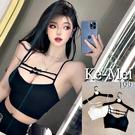 """克妹Ke-Mei【AT64944】""""襯衫撐爆了""""! 辛辣蝴蝶結厚墊無鋼圈內衣"""