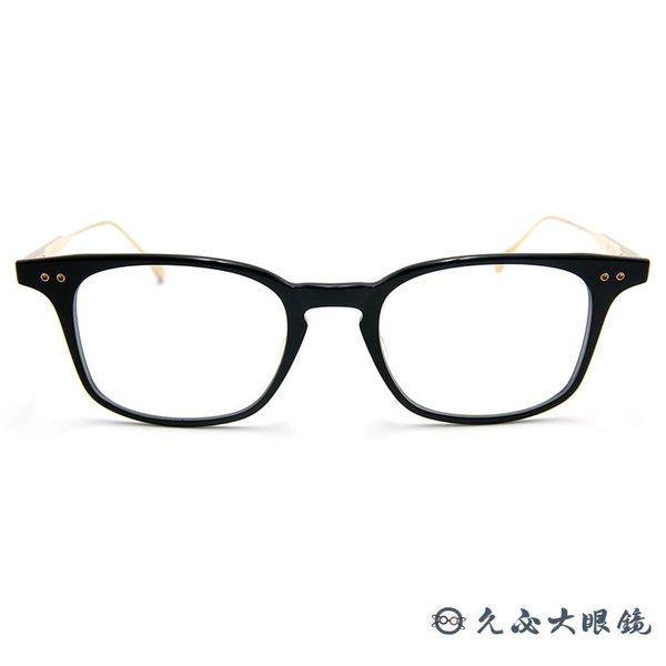 DITA 頂級眼鏡品牌 純鈦 經典極薄方框 BUCKEYE DRX-2072-D 黑-金 久必大眼鏡