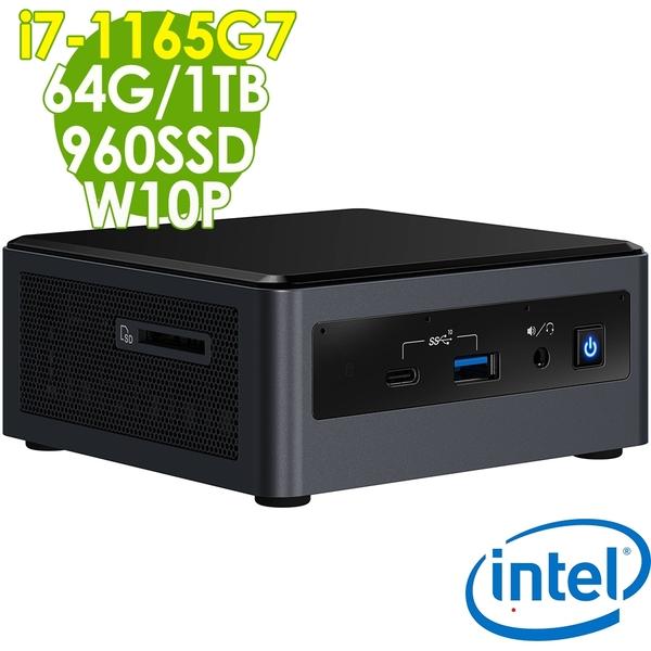 【現貨】Intel 無線迷你電腦 NUC i7-1165G7/64G/960SSD+1TB/W10P