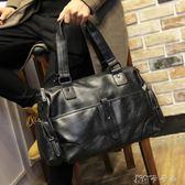 商務包  男士商務橫款手提包韓版時尚斜背包休閒單肩包旅行包包 卡卡西