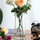 歐式透明玻璃花瓶水培鮮花北歐插花瓶擺件【左岸男裝】