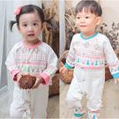 長袖連身衣 仿針織 線衫 圖騰式 創意設計 爬服 哈衣 男寶寶 女寶寶 Augelute Baby 60188