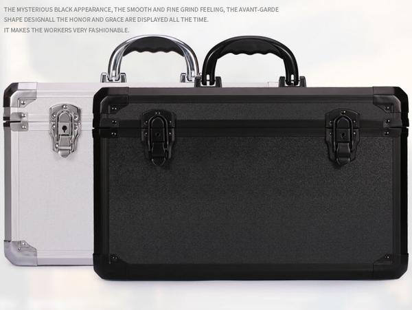 手提鋁合金維修工具箱儀器樣品展示鋁包裝箱隔板鑰匙扣鎖多用鋁箱 南風小鋪