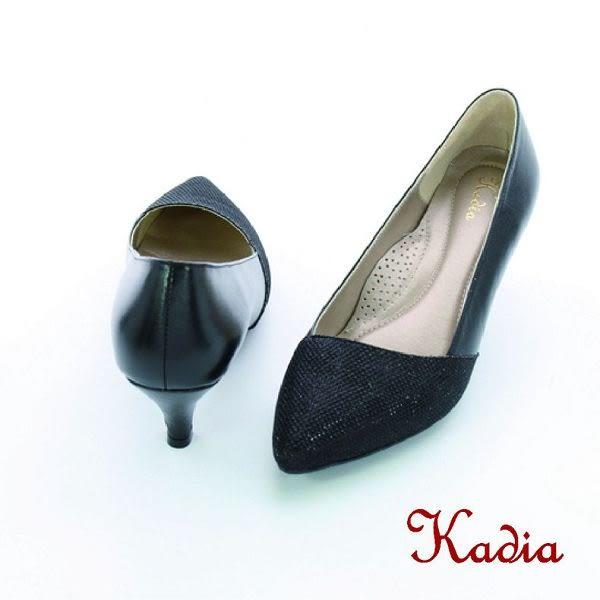 本週下殺★2016新品★kadia. 雅緻亮面尖頭高跟鞋(黑色)