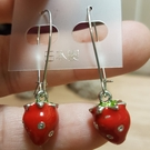 甜蜜草莓耳環