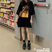 黑色T恤女寬鬆韓版歐貨大版中長款半袖下衣失蹤短袖體恤潮夏裝 雙12