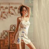 情趣內衣旗袍透視騷小胸性感緊身挑逗制服血滴子極度誘惑激情套裝 艾尚旗艦