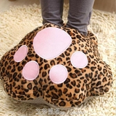 USB貓爪暖腳寶創意家居可愛貓爪usb暖腳寶暖手寶寶保暖毛絨暖腳鞋 艾莎嚴選