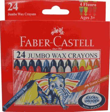 Faber-Castell大象粗芯蠟筆24色 *120039