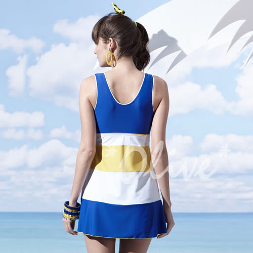 ☆小薇的店☆MIT聖手品牌俏麗美胸款式時尚連身裙泳裝特價990元 NO.A98603(M-XL)