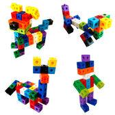 方塊積木早教益智力塑膠拼插幼稚園拼裝男孩女孩3-6周歲兒童玩具秋季上新