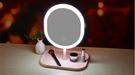 led化妝鏡帶燈補光宿舍桌面台式梳妝充電式鏡子  免運 生活主義