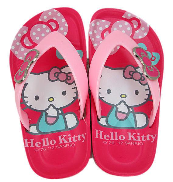 【卡漫城】Hello Kitty 兒童夾腳拖 17 cm 人字鞋 ㊣版 橡膠PVC材質 台灣製 拖鞋