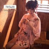 日本和服睡衣女性感透明開衫浴衣袍情趣cos【步行者戶外生活館】
