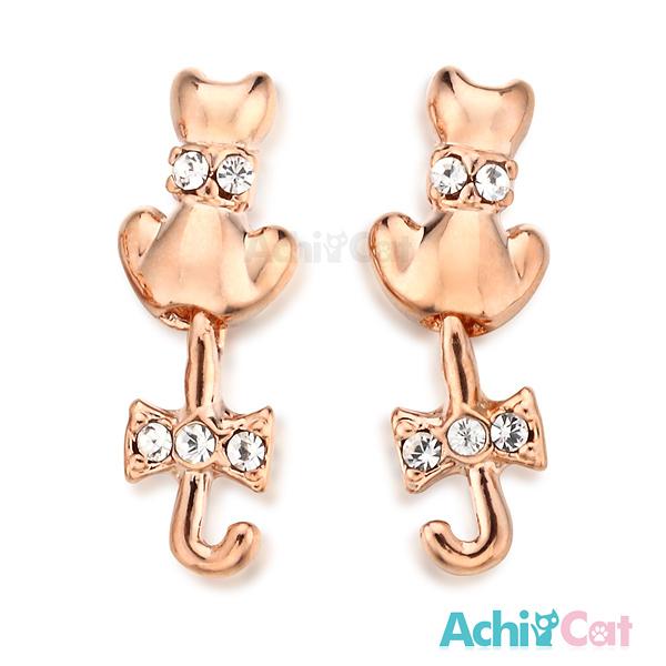 耳環AchiCat正白K 生動貓語 耳針式 貓咪 尾巴可晃動 一對價格