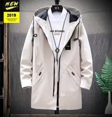 風衣男韓版潮流中長款加絨加厚夾克青少年學生秋冬季棉衣保暖外套