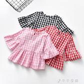 女童T恤女寶寶短袖小童上衣嬰幼兒棉質體恤夏裝t恤衫 千千女鞋