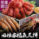 海鮮王 年菜套餐 回娘家福氣大三拼年菜組(6-8人份/約共2.2kg)【免運直出】