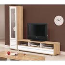 【森可家居】明日香7.45尺L櫃(全組) 7ZX370-2 客廳 高低櫃 展示櫃 電視櫃 木紋質感 無印風 北歐風
