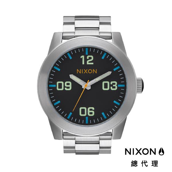 【官方旗艦店】NIXON CORPORAL SS 型男熱銷款 水藍 潮人裝備 潮人態度 禮物首選