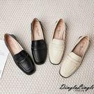 英倫學院風圓方頭粗跟褔樂鞋小皮鞋(三色34-40)