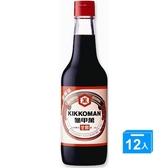 統一龜甲萬甘醇醬油玻璃瓶500ml*12【愛買】