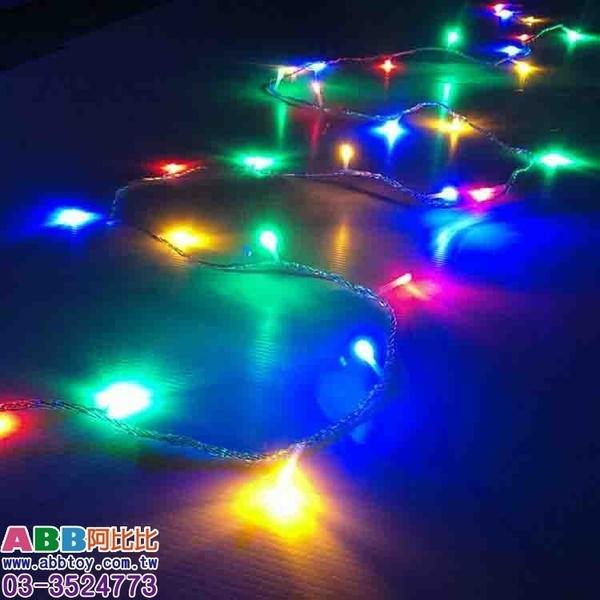 B1536★彩光燈串_100燈4彩透明線#聖誕聖誕燈串LED燈串網燈冰條燈流星燈聖誕樹燈