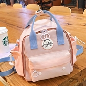 新品小包包時尚百搭雙肩包多功能兩用斜挎包女學生森系防水小背包 青木鋪子