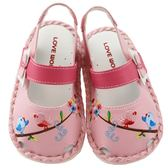 【愛的世界】花與小鳥寶寶鞋/學步鞋-台灣製- ★童鞋童襪