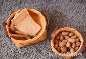 木片編織收納籃筐田園面包籃水果蔬菜提手籃子野餐儲物籃    琉璃美衣