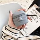復活島 摩艾石像 Airpods pro 蘋果耳機 創意 可愛 矽膠保護套 附掛勾 防摔套 軟殼 立體收納套