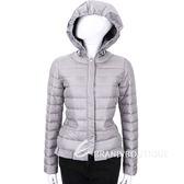 MARELLA 灰色縫線拼接釦式外套(帽可拆) 1540377-06