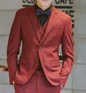 找到自己品牌 韓國男 羊毛呢格子 四件式西裝外套 成套西裝 成套西裝 西裝外套