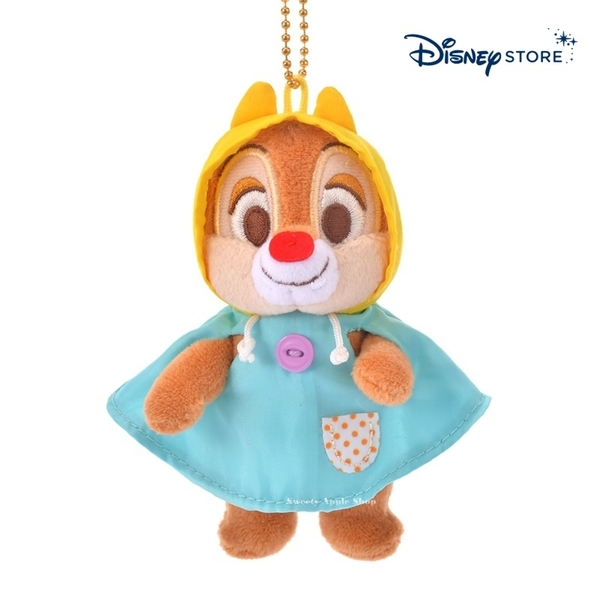 【SAS】日本限定 迪士尼商店 Disney Store 奇奇蒂蒂『蒂蒂』 雨衣版 珠鍊吊飾玩偶娃娃