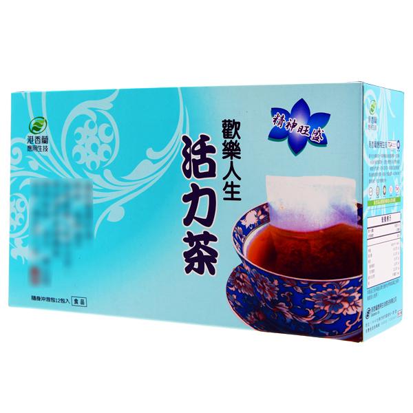 港香蘭 歡樂人生活力茶(12包/盒)x1