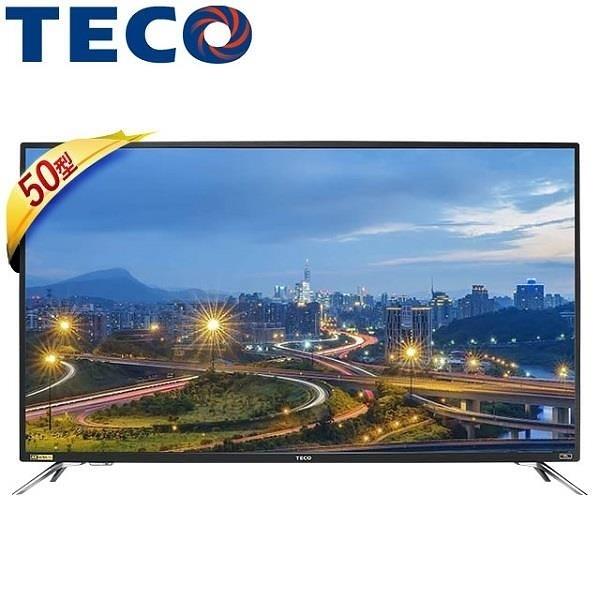 【南紡購物中心】TECO 東元 TL50U5TRE 50吋 4K 液晶顯示器+視訊盒
